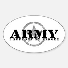 Army - I Support My Ranger Oval Decal
