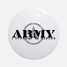 Army - I Support My Ranger Ornament (Round)