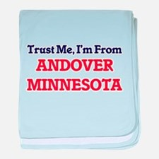 Trust Me, I'm from Andover Minnesota baby blanket