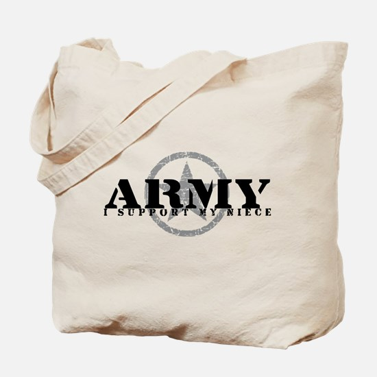 Army - I Support My Niece Tote Bag