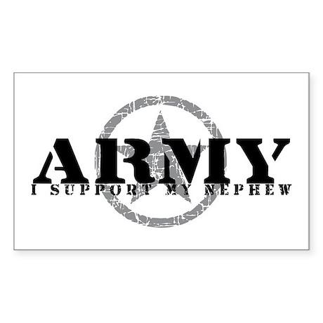 Army - I Support My Nephew Rectangle Sticker