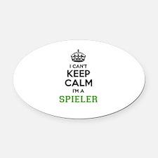 SPIELER I cant keeep calm Oval Car Magnet