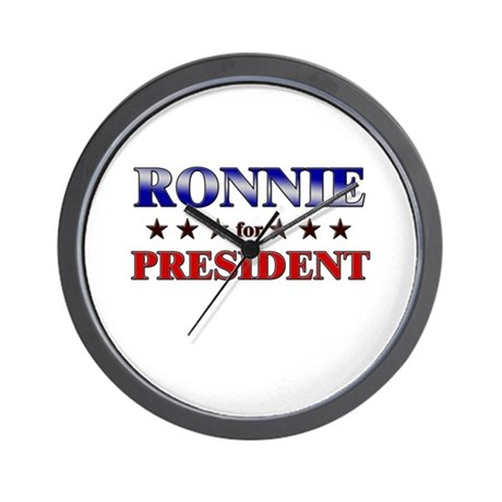 RONNIE for president Wall Clock