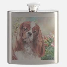 Cavalier King Charles Spaniel Painting Flask