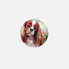 Cavalier King Charles Spaniel Painting Mini Button