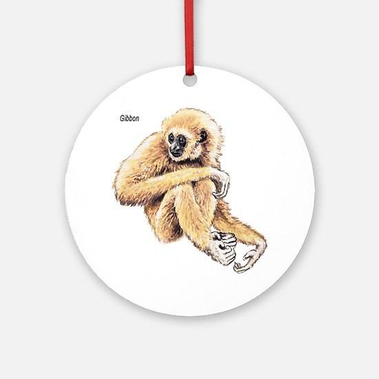 Gibbon Ape Keepsake (Round)
