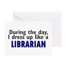 Dress Up Like A Librarian Greeting Cards (Pk of 20