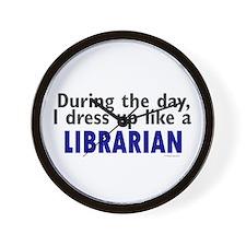 Dress Up Like A Librarian Wall Clock