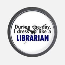 Dress Up Like A Librarian Wall Clock