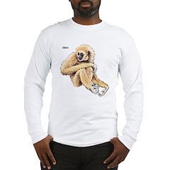 Gibbon Ape (Front) Long Sleeve T-Shirt