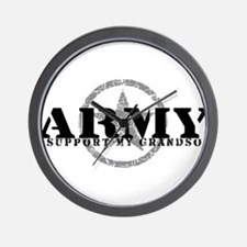 Army - I Support My Granson Wall Clock