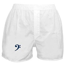 Dark Blue Bass Clef Boxer Shorts