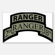 2nd Ranger Bn Scroll/Tab ACU Rectangle Decal