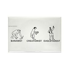 Bananist/Creationist/Evolutio Rectangle Magnet