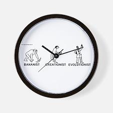 Bananist/Creationist/Evolutio Wall Clock