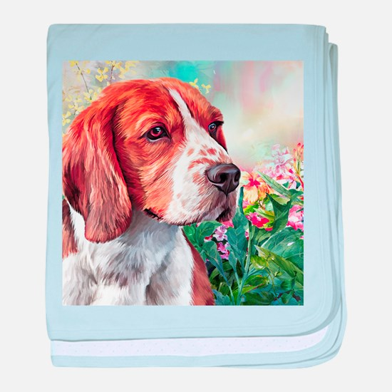 Beagle Painting baby blanket