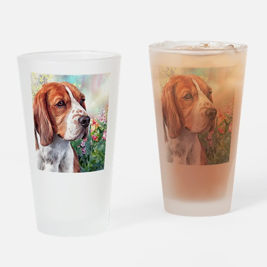 Beagle Painting Drinking Glass