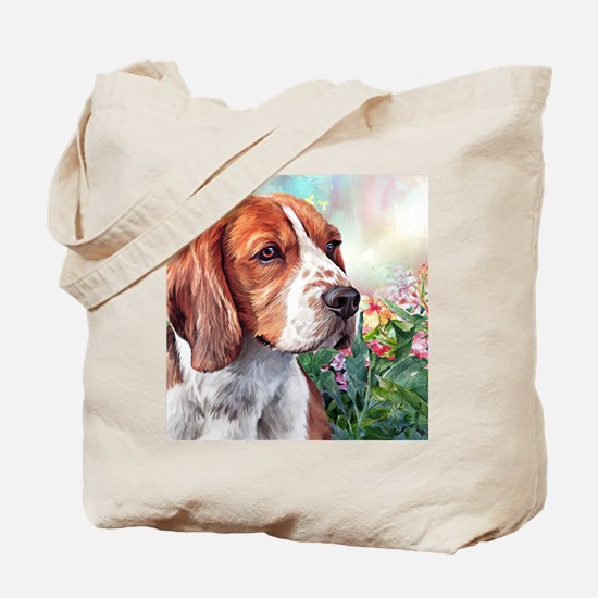 Beagle Painting Tote Bag
