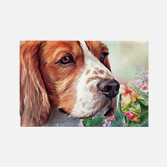 Beagle Painting Magnets