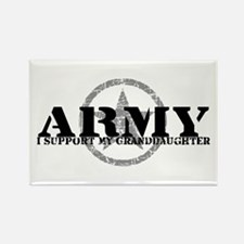 Army - I Support My Granddaughter Rectangle Magnet