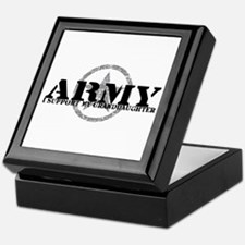 Army - I Support My Granddaughter Tile Box