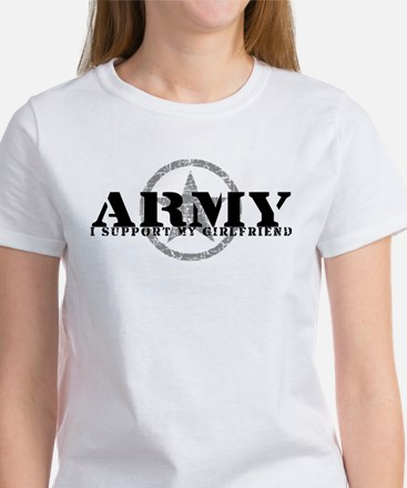 Army - I Support My Girlfriend Women's T-Shirt