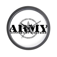 Army - I Support My Girlfriend Wall Clock