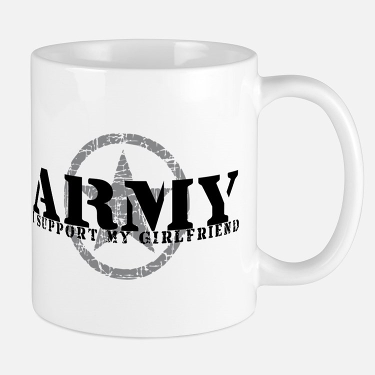 Army - I Support My Girlfriend Mug