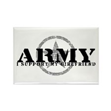 Army - I Support My Girlfriend Rectangle Magnet