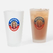 History Made Drinking Glass