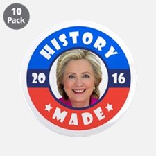 """History Made 3.5"""" Button (10 pack)"""