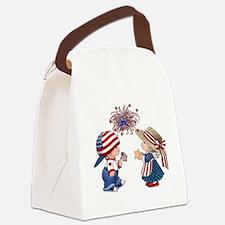 Cute 4th july Canvas Lunch Bag