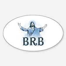 Cute Protestantism Sticker (Oval)