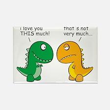 Unique Dinosaur love Rectangle Magnet