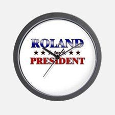 ROLAND for president Wall Clock