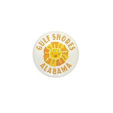 Gulf Shores Sun -  Mini Button (10 pack)