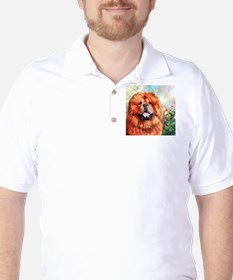 Chow Chow Painting Golf Shirt