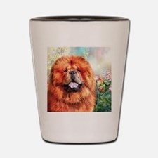 Chow Chow Painting Shot Glass