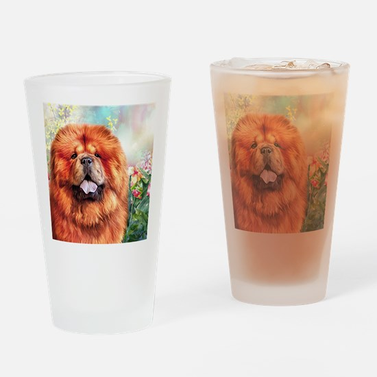Chow Chow Painting Drinking Glass