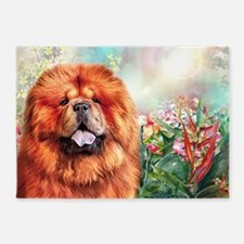 Chow Chow Painting 5'x7'Area Rug