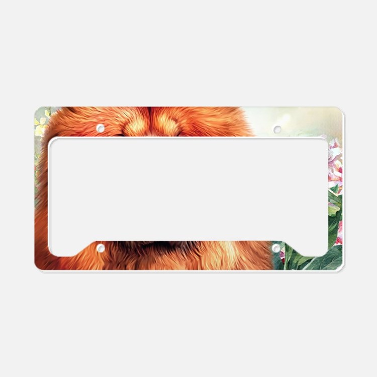 Chow Chow Painting License Plate Holder