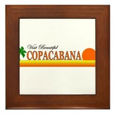 Visit Beautiful Copacabana Framed Tile