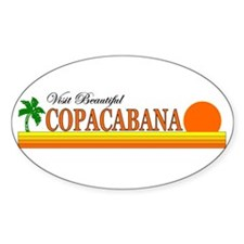 Visit Beautiful Copacabana Oval Decal