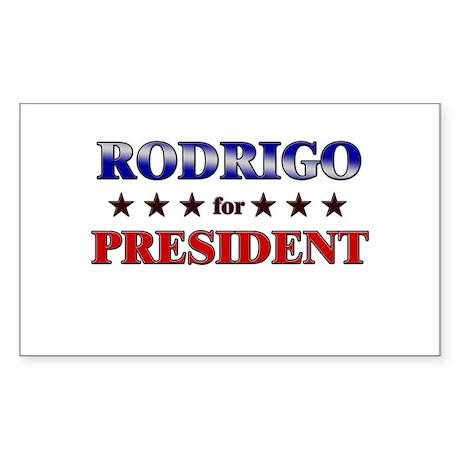 RODRIGO for president Rectangle Sticker