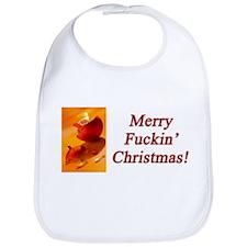 Merry Fuckin' Christmas Bib