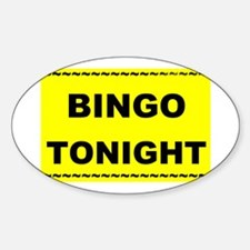 BINGO TONIGHT Oval Decal