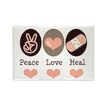 Heal Nurse Doctor Rectangle Magnet (100 pack)