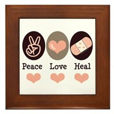 Heal Nurse Doctor Framed Tile