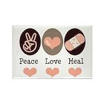 Heal Nurse Doctor Rectangle Magnet