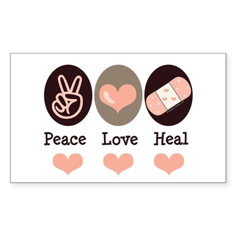 Heal Nurse Doctor Rectangle Sticker